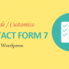 Customize forms In Contact Form 7 for Beginners